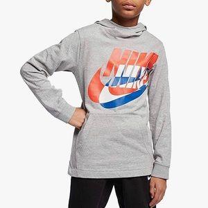 Nike Boys' NSW PO Pullover Hoodie - Gray